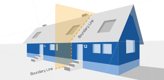 Party Wall illustration for Bingley Surveyors